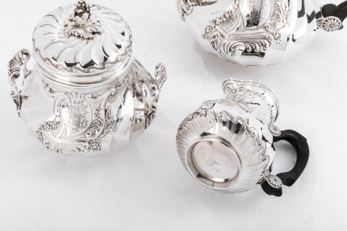 Antiquités - Goldsmith BOINTABURET - 4-piece tea / coffee service in 19th sterling silver