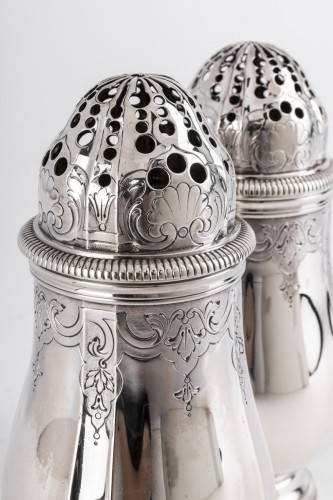 Antique Silver  - Goldsmith PAUL CANAUX - Pair of 19th century solid silver sprinklers