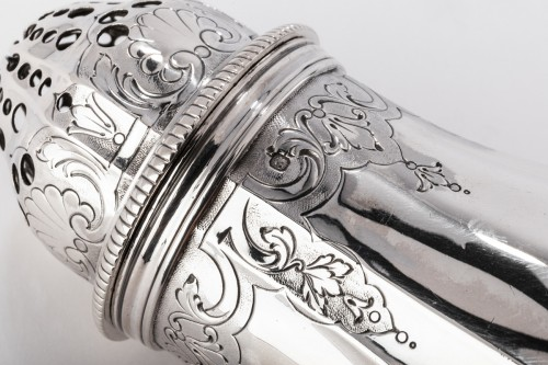 Goldsmith PAUL CANAUX - Pair of 19th century solid silver sprinklers - Napoléon III