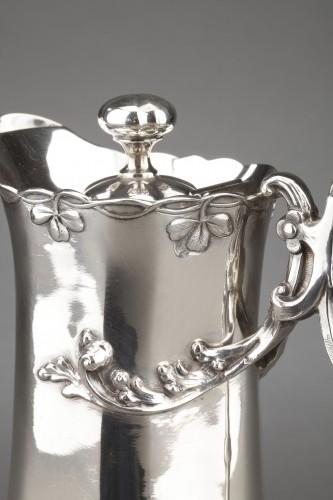 Goldsmith DEBAIN - Sterling silver jug  circa 1900 - Art nouveau