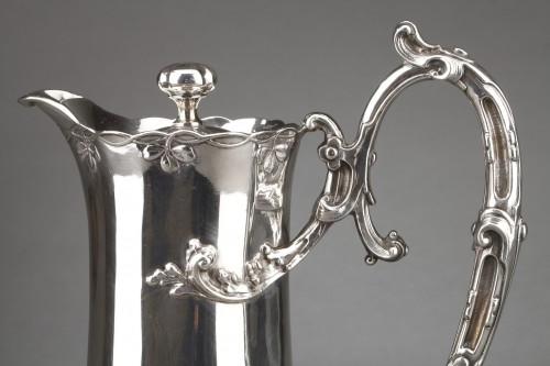 Antiquités - Goldsmith DEBAIN - Sterling silver jug  circa 1900