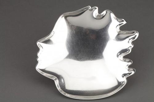 Goldsmith G. DE VECCHI - Solid silver dish 20th Northern Italy - Antique Silver Style 50