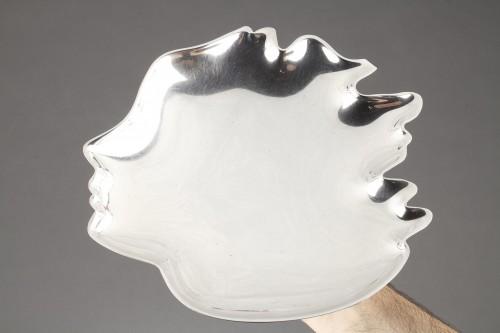 Antique Silver  - Goldsmith G. DE VECCHI - Solid silver dish 20th Northern Italy