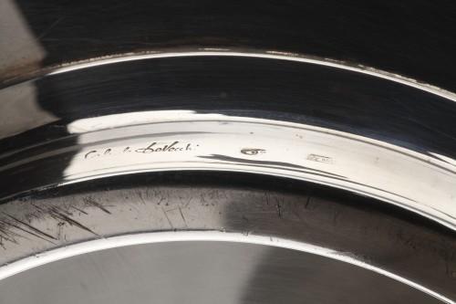 Goldsmith G. DE VECCHI - Solid silver dish 20th Northern Italy -