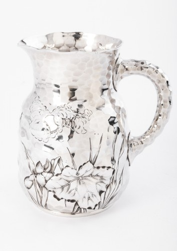 Antique Silver  - Goldsmith J.E. CALDWELL - Hammered solid silver pitcher 20th century