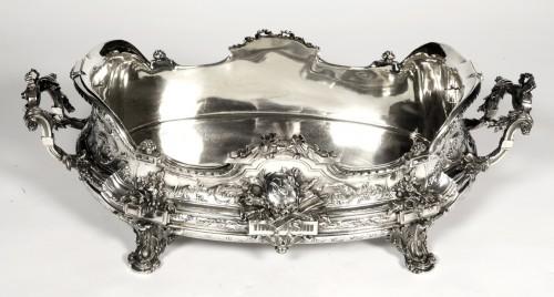 Antique Silver  - Goldsmith TETARD: Planter in solid silver, Napoléon III period