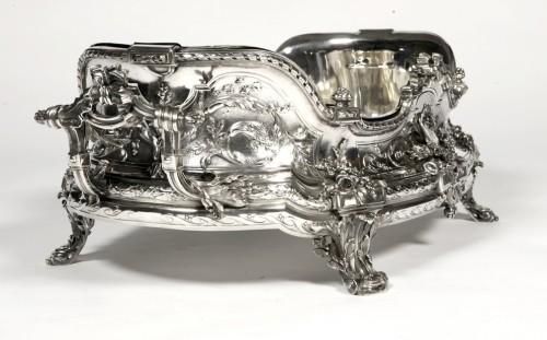 Goldsmith TETARD: Planter in solid silver, Napoléon III period - Napoléon III