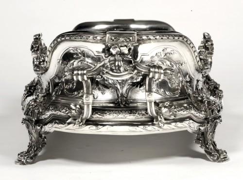 Napoléon III - Goldsmith TETARD: Planter in solid silver, Napoléon III period