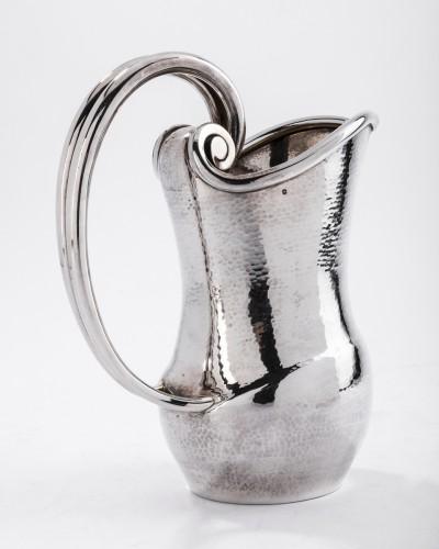 Goldsmith BANCELIN - Sterling silver pitcher hammered -