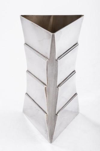Goldsmith ANDREA BRANZI - Sterling silver vase - XXth - Antique Silver Style 50