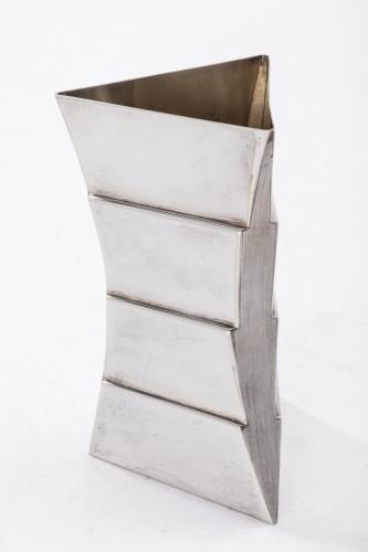 Antique Silver  - Goldsmith ANDREA BRANZI - Sterling silver vase - XXth