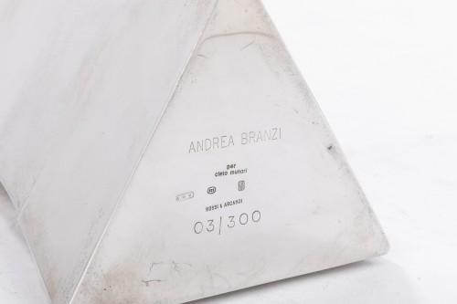 Goldsmith ANDREA BRANZI - Sterling silver vase - XXth -