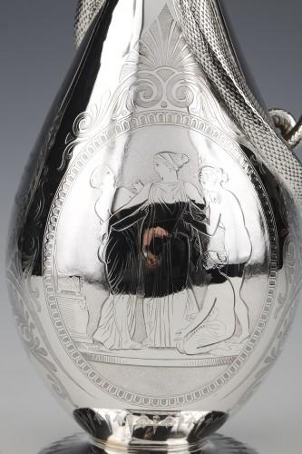 Antique Silver  - EDOUARD & JOHN BARNARD - Ewer in solid silver XIXth London
