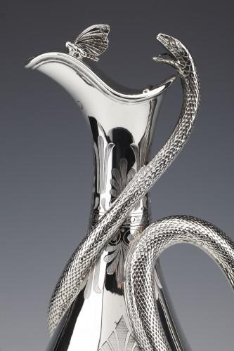 EDOUARD & JOHN BARNARD - Ewer in solid silver XIXth London -