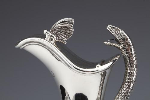 EDOUARD & JOHN BARNARD - Ewer in solid silver XIXth London - Napoléon III