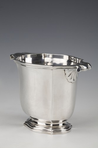 Silversmith TETARD - Solid silver ice bucket circa 1930 - Antique Silver Style Art Déco