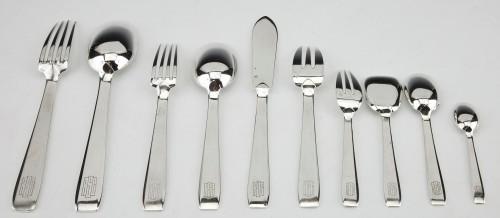 20th century - Silversmith TETARD & Peter - sterling silver FLATWARE art deco CIRCA1930