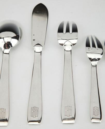 Art Déco - Silversmith TETARD & Peter - sterling silver FLATWARE art deco CIRCA1930