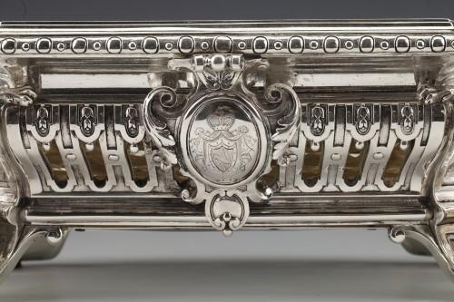 Goldsmith ODIOT - Important Jardiniere Napoleon III Period circa 1850 - Antique Silver Style Napoléon III