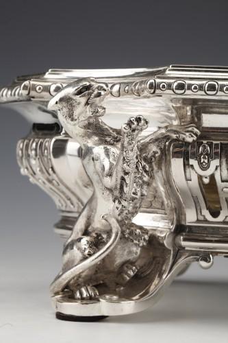 Antique Silver  - Goldsmith ODIOT - Important Jardiniere Napoleon III Period circa 1850