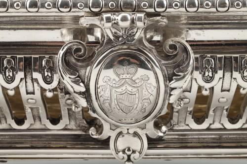 19th century - Goldsmith ODIOT - Important Jardiniere Napoleon III Period circa 1850