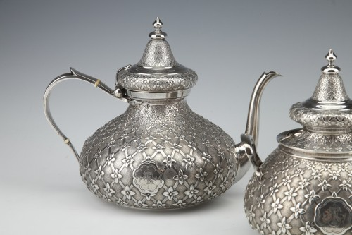 Antique Silver  - GLANANT  / DUPONCHEL - 4-piece tea and coffee service in solid silver XIXè