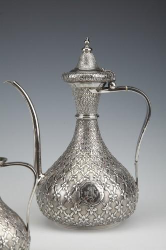 GLANANT  / DUPONCHEL - 4-piece tea and coffee service in solid silver XIXè - Napoléon III