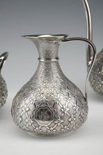 Napoléon III - GLANANT  / DUPONCHEL - 4-piece tea and coffee service in solid silver XIXè