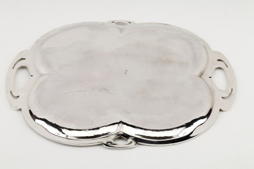 Goldsmith DEBAIN - Solid silver serving tray - Art nouveau