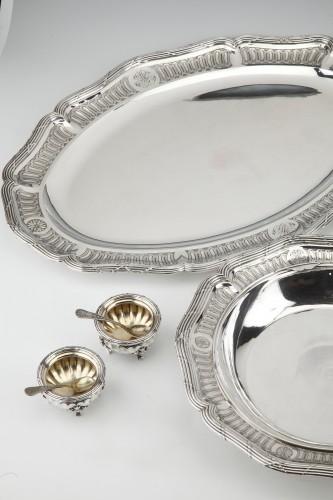 19th century -  Goldsmith BOIN TABURET - Set of silver dishes and salt cellars Circa XIXth