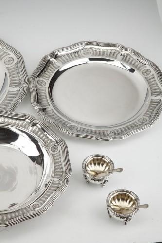 Goldsmith BOIN TABURET - Set of silver dishes and salt cellars Circa XIXth -