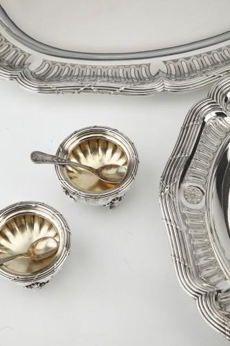 -  Goldsmith BOIN TABURET - Set of silver dishes and salt cellars Circa XIXth