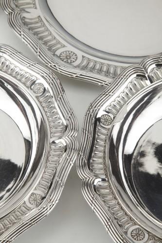 Antiquités -  Goldsmith BOIN TABURET - Set of silver dishes and salt cellars Circa XIXth