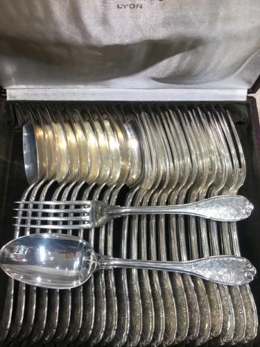 Antiquités - Puiforcat - Elysee - Sterling Silver Flatware 109 Pieces