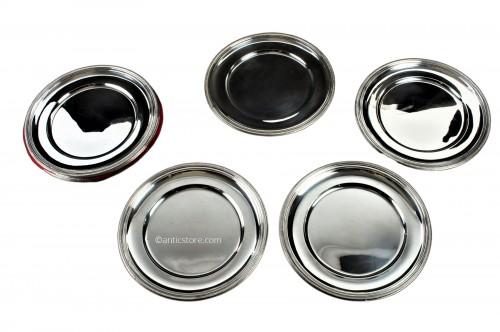 PUIFORCAT - Set of ten solid silver presentation plates