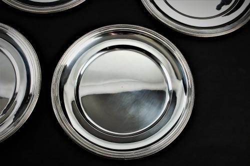 Antique Silver  - PUIFORCAT - Set of ten solid silver presentation plates