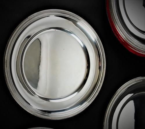 PUIFORCAT - Set of ten solid silver presentation plates -