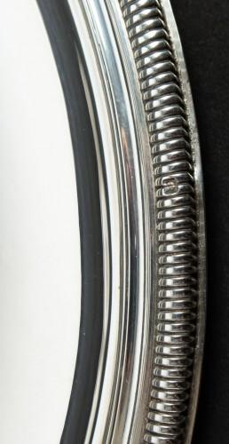 PUIFORCAT - Set of ten solid silver presentation plates - Art Déco