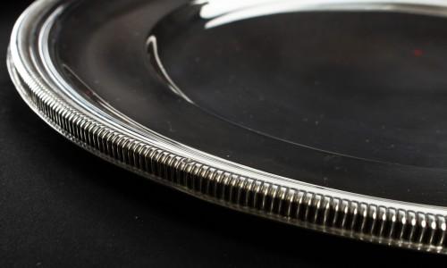 Antiquités - PUIFORCAT - Set of ten solid silver presentation plates