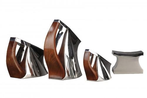 Pierre CARDIN - 4-piece coffee tea service solid silver futuristic mode