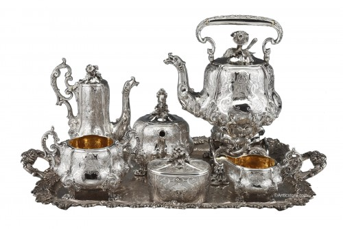 Charles Nicolas ODIOT - Important tea / coffee set in sterling silver