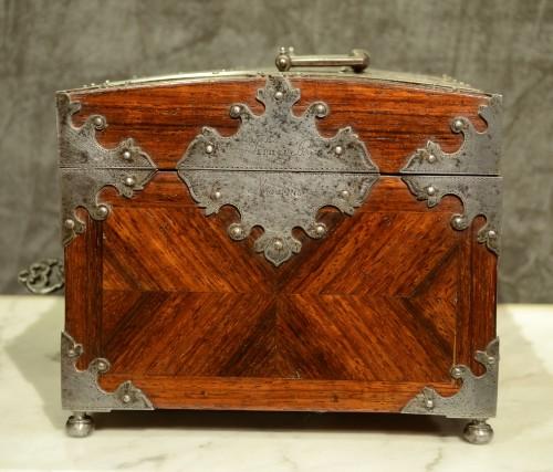 Curiosities  - A Fine Steel Mounted Kingwood Box signed Pérille à Moulins