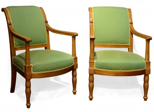A Pair of Empire armchairs by Jacob-Desmalter for Fontainebleau