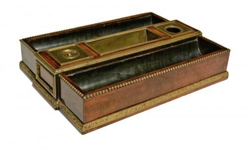 A Louis XVI ormolu mounted mahogany Inkstand