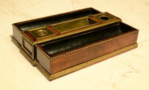 Decorative Objects  - A Louis XVI ormolu mounted mahogany Inkstand