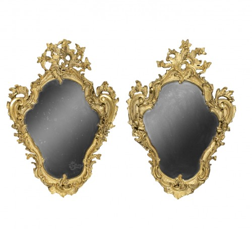 Pair of genoese Rococo Mirrors