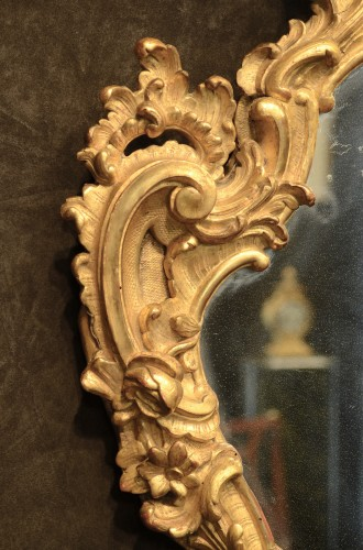Mirrors, Trumeau  - Pair of genoese Rococo Mirrors