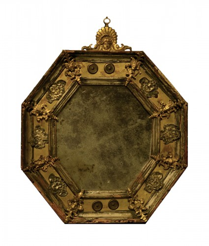 A small 17th century mirror