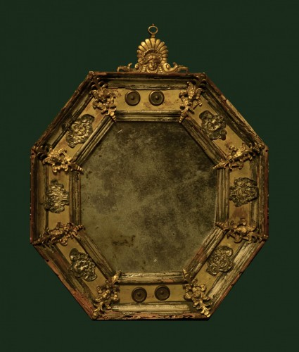 A small 17th century mirror - Mirrors, Trumeau Style