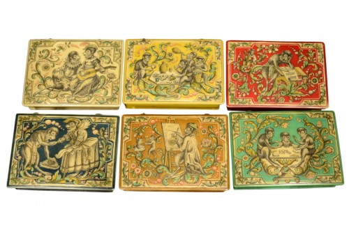 Louis XV set of six counter boxes
